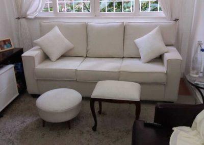 Reforma sofá 3 lugares cinza