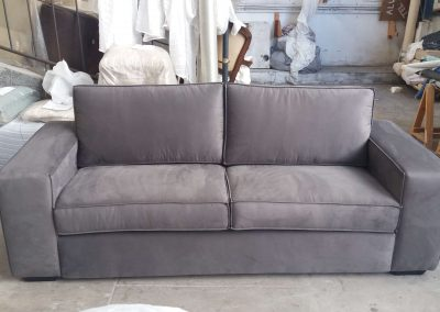 Reforma sofá de 2 lugares cinza