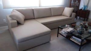 reforma de sofá de canto com chaise